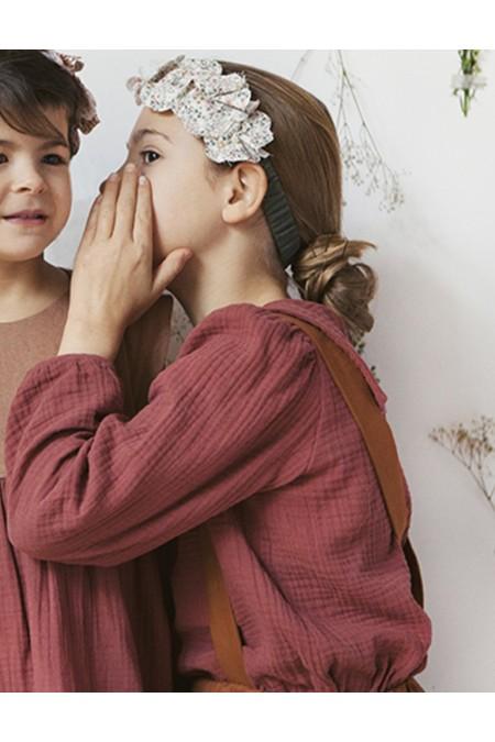 blouse fille en coton bio bordeaux