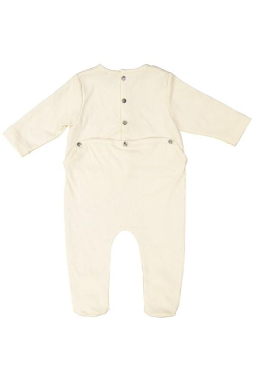 pyjama bébé coton bio doux écru domino