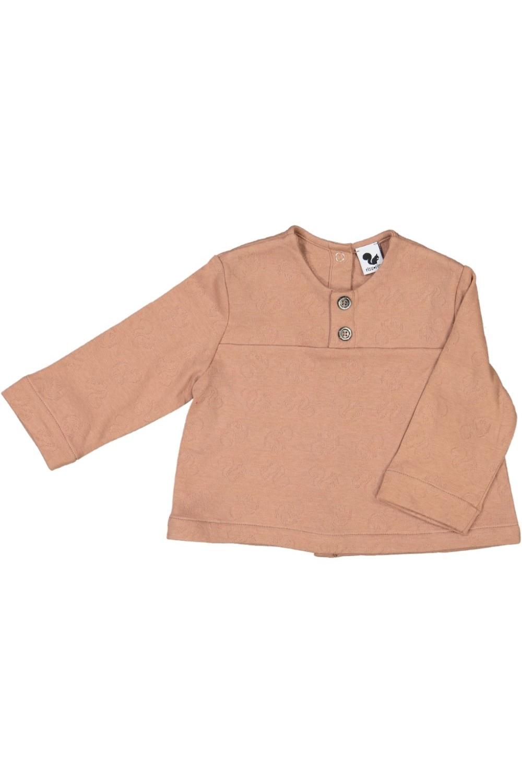 chemise bébé coton bio peintre rose
