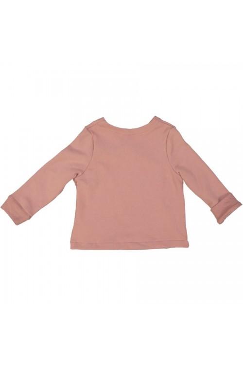 Veste fille Datcha rose caucase molleton bio