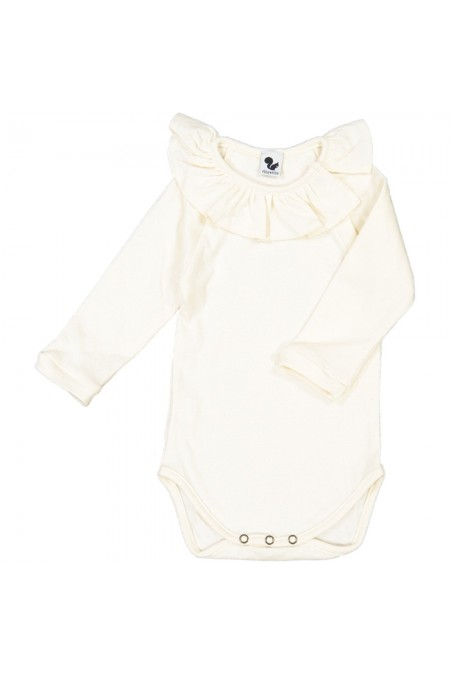 body bébé coton bio écru manches longues