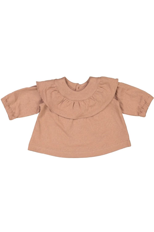 blouse bébé coton bio bouquet rose