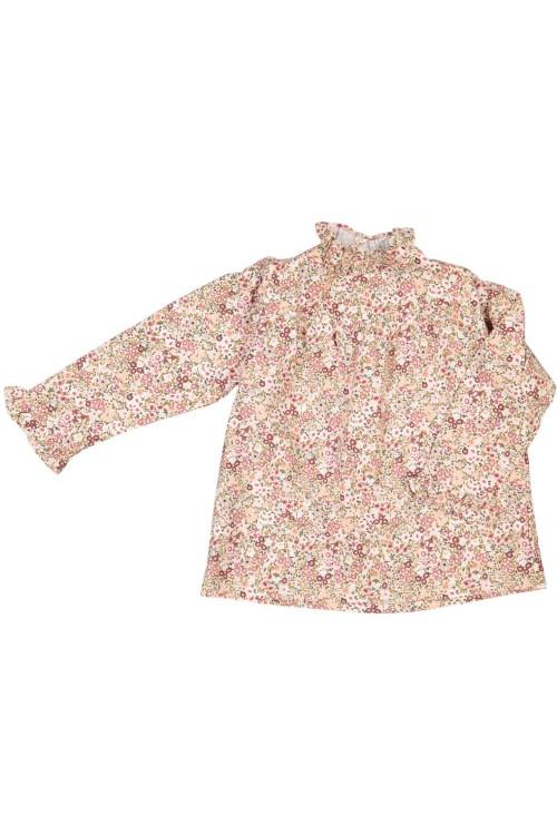 blouse fille fleurs hiver coton bio risu risu