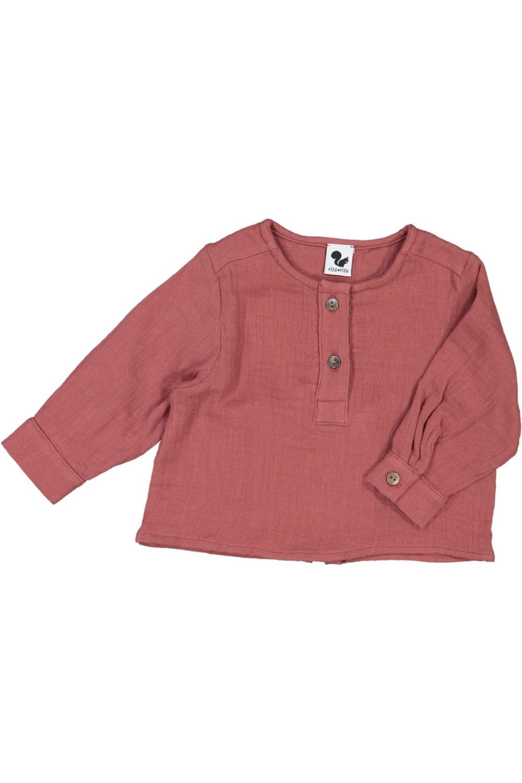 chemise bebe coton bio rouge capitaine