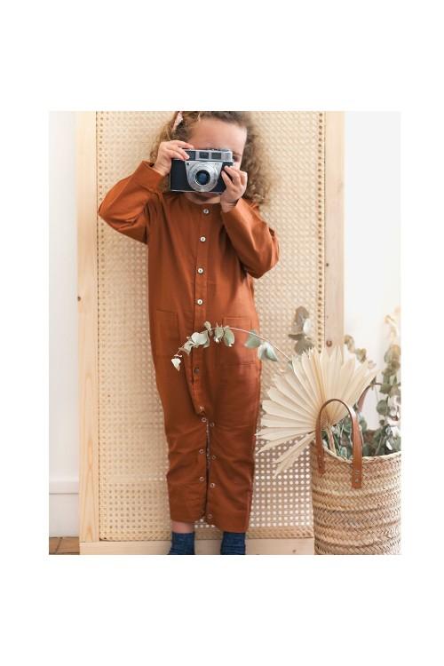 Hellebore baby overalls