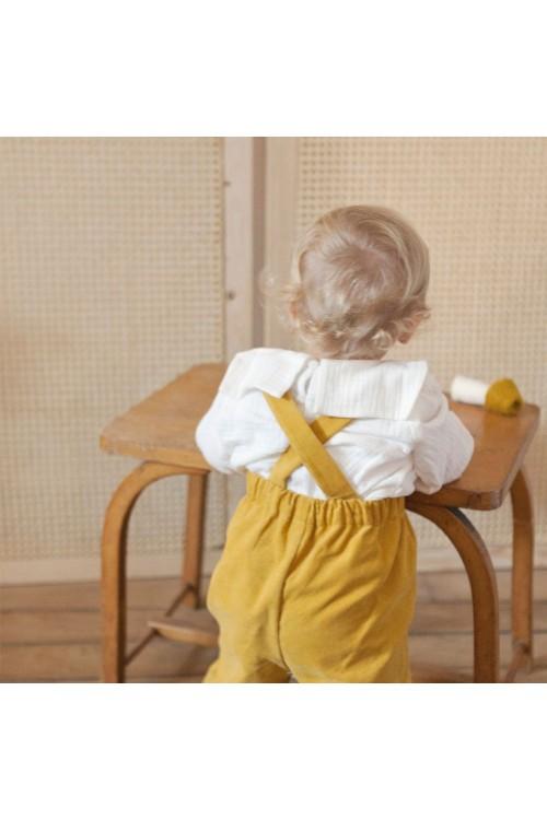 pantalon bébé hiver risu risu velours bio