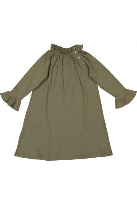 chemise de nuit noël coton bio kaki