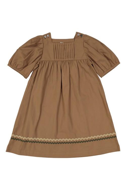 robe fille coton bio marron candella