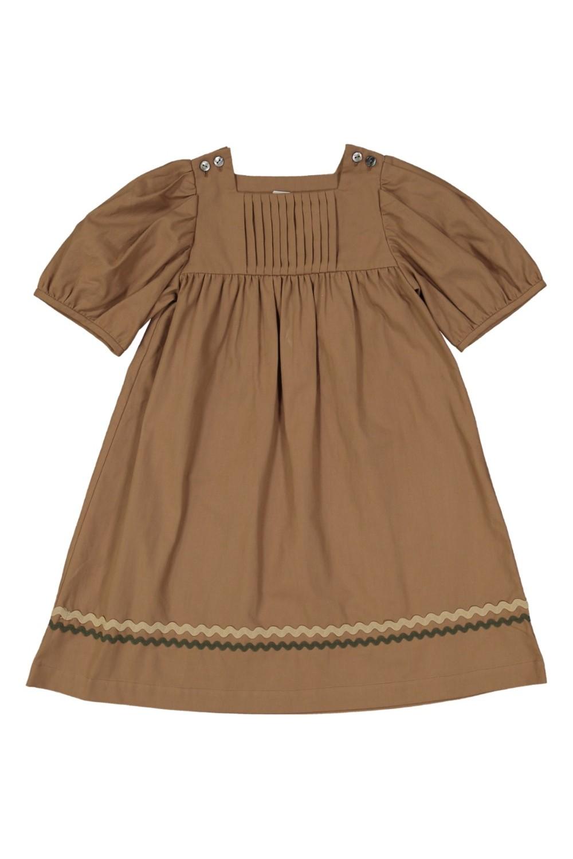organic cotton girls 'dress candella brown