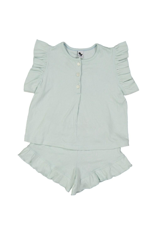 pyjama fille été nuvola bleu aqua coton bio