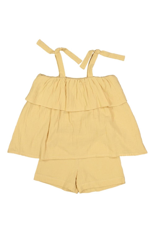 pyjama été fille bria jaune coton bio