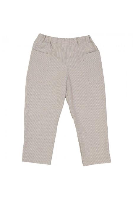 pantalon été enfants coton bio planteur rayures