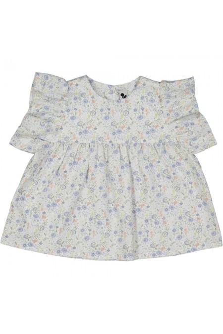 blouse fille été fleurs bio