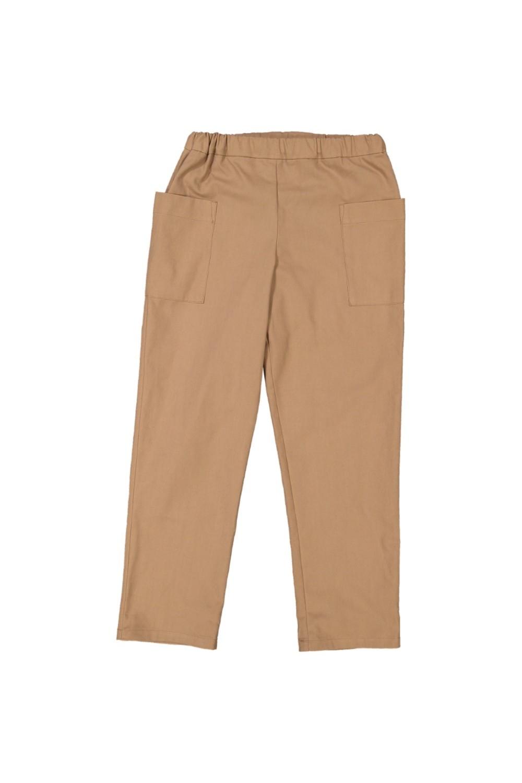 pantalon enfant coton bio planteur marron
