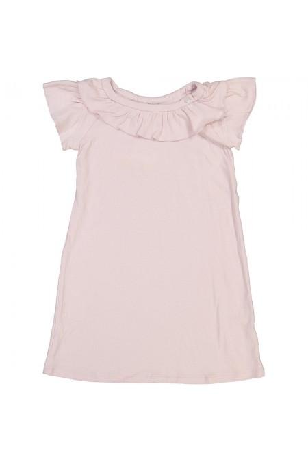 chemise de nuit fille rose coton bio gioia