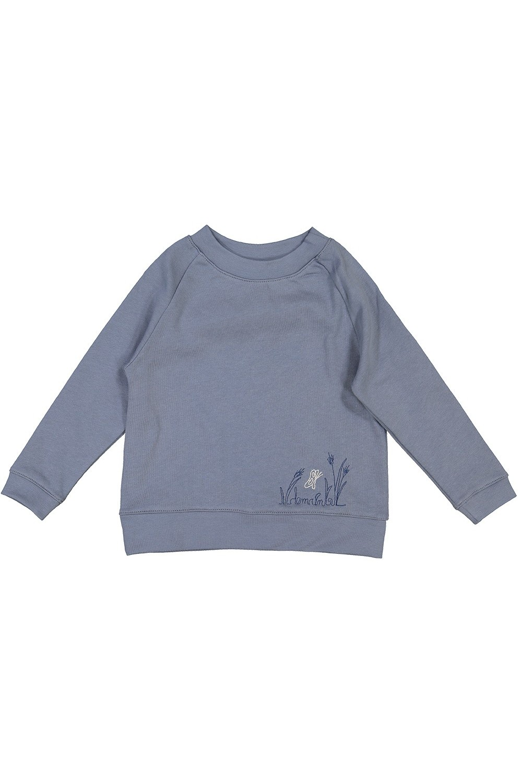 sweatshirt coton bio bleu nid risu risu