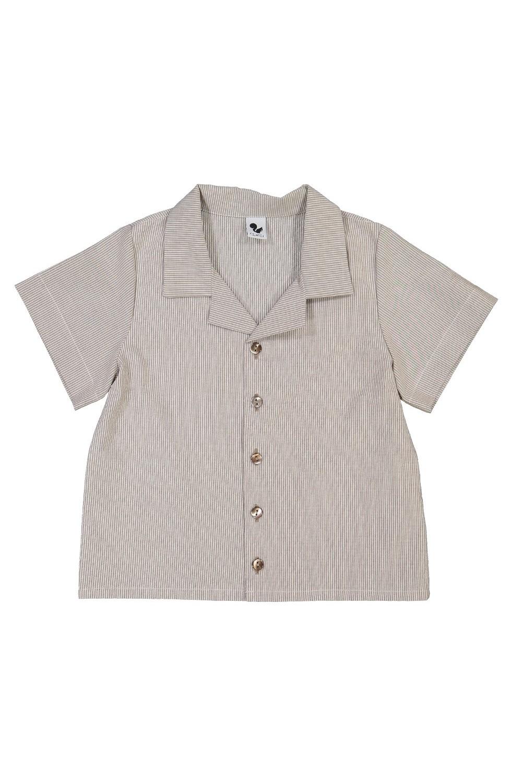 chemise enfant rayée en coton bio été aventurier