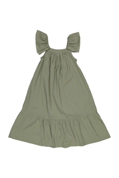 robe été kaki fille coton bio bohémienne