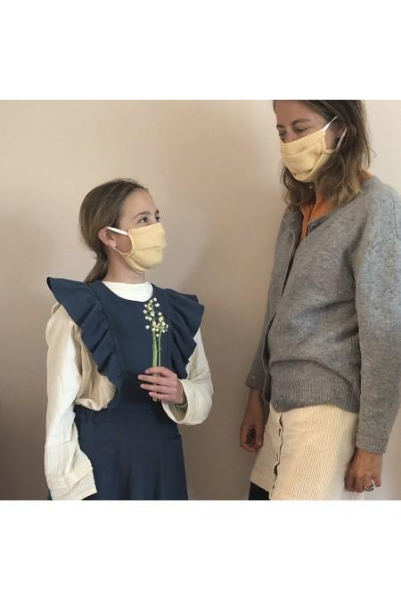 masque anti covid réversible pour les enfants et leurs parents