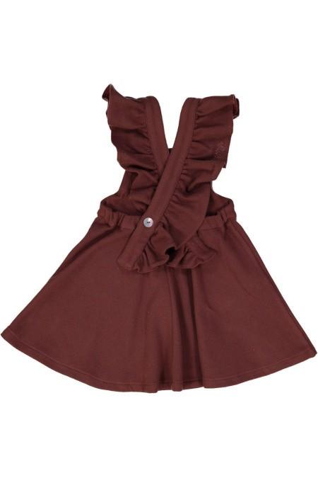 Robe fille en flanelle de coton bio