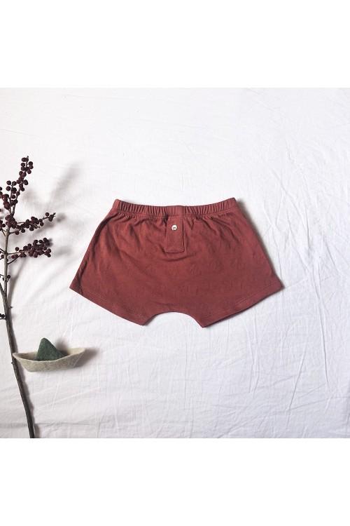 boxer garçon coton bio rouge