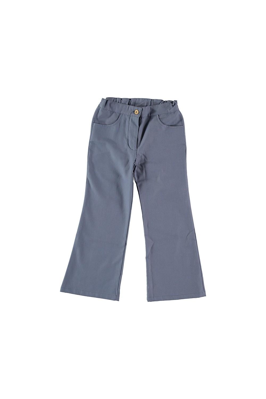 pantalon fille toile coton bio bleu Jane