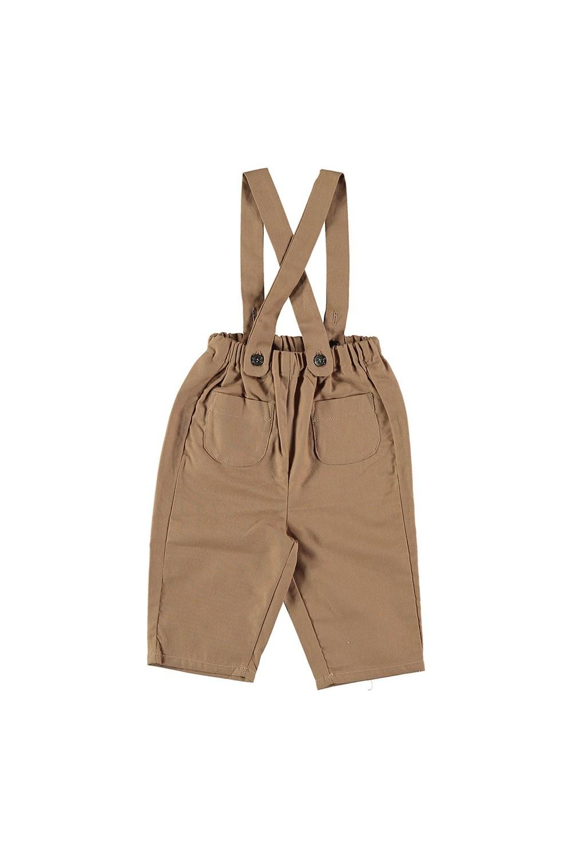 pantalon bébé toile de coton bio marron