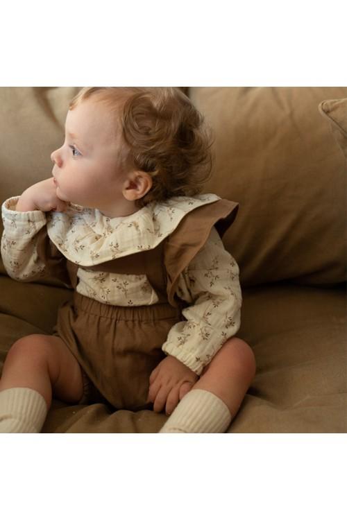 Cyclamen baby overalls