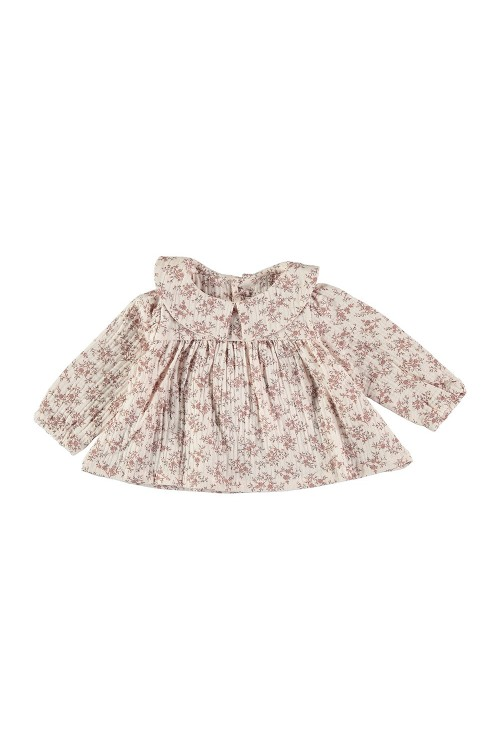 organic cotton baby blouse muse flower prints