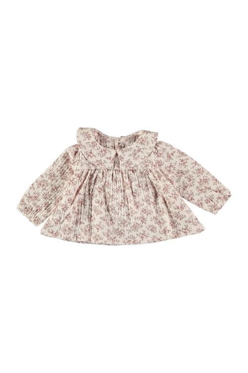 organic cotton baby blouse muse flower prints