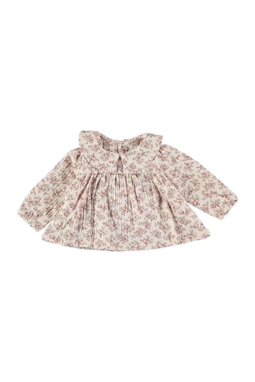 blouse bébé lange fleurs risu risu bio