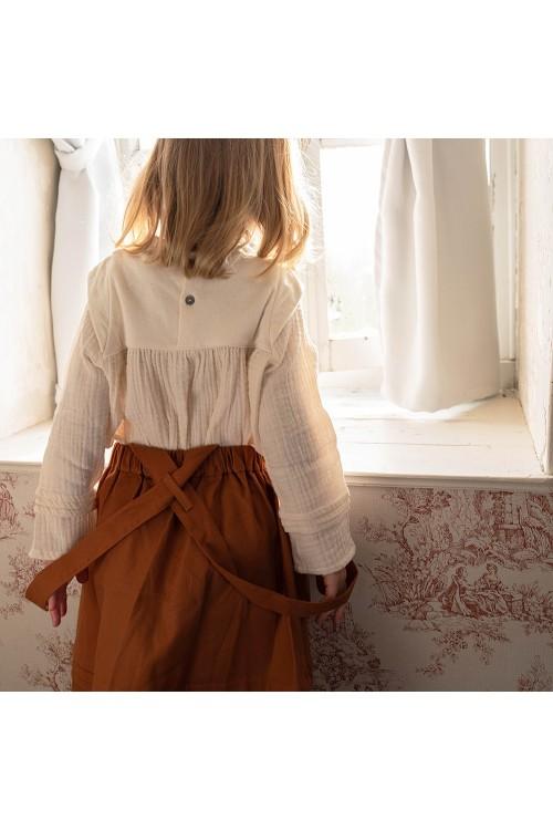 blouse fille manches longues coton bio patience