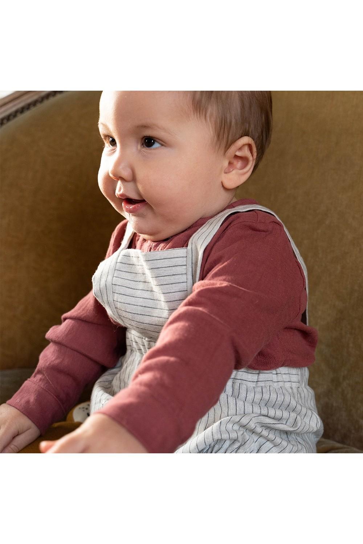 chemise bébé gaze rouge capitaine coton bio