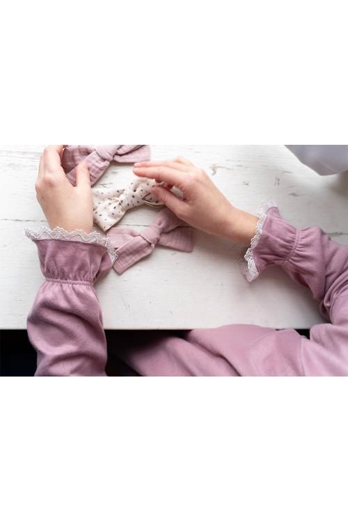 chemise de nuit détail dentelle de coton bio risu risu