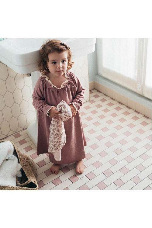 chemise de nuit hiver confortable coton bio risu risu