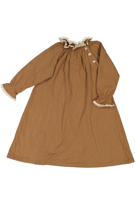 chemise de nuit fille harmonie coton bio brun roots risu risu
