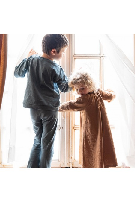vêtements de nuit hiver enfant coton bio risu risu