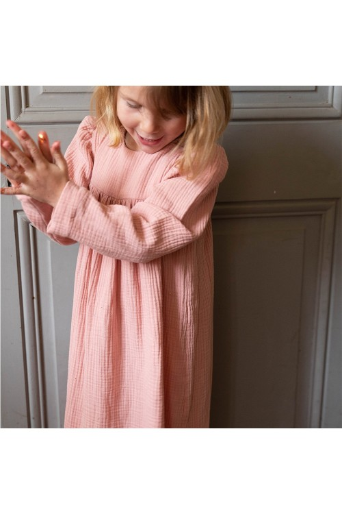 robe de nuit rose litchi félicité risu risu