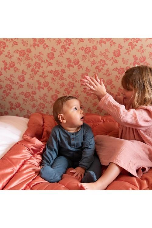 pyjama bébé coton bio bleu domino