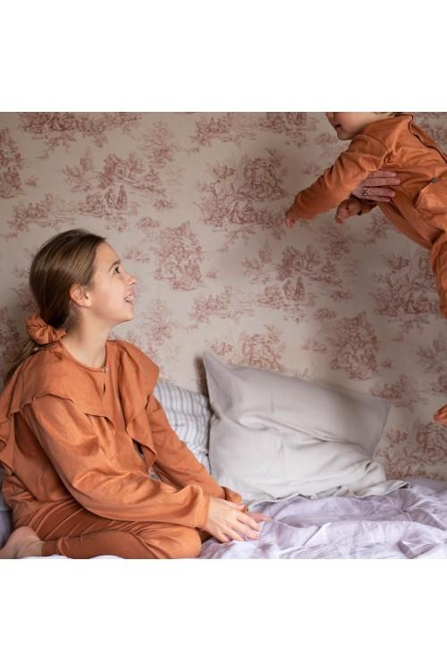 pyjama hiver fille bio iris argile