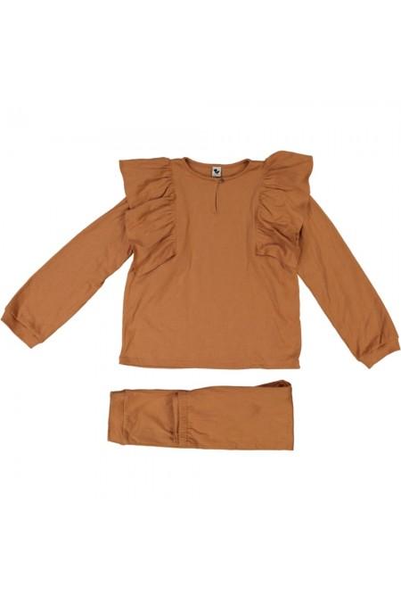 pyjama fille en coton bio de la marque risu risu