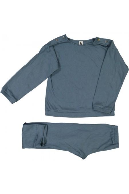 pyjama hiver en coton bio bleu dandy garçon