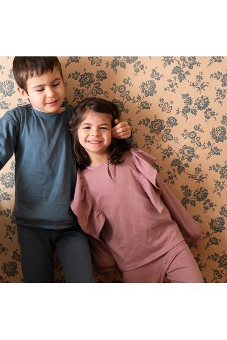pyjama fille hiver confortable coton bio rose risu risu