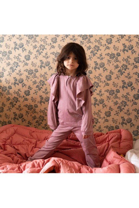 pyjama iris fille rose colchique risu risu