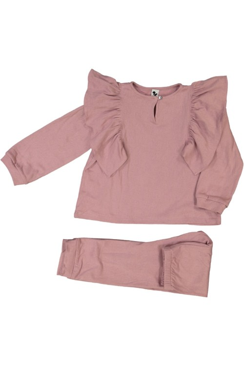 organic girls pyjamas pink winter iris