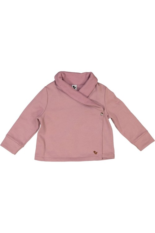 pink organic cotton night jacket tissue risu