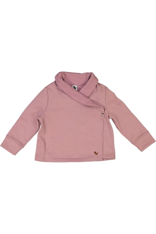 pink organic cotton night jacket tissue risu