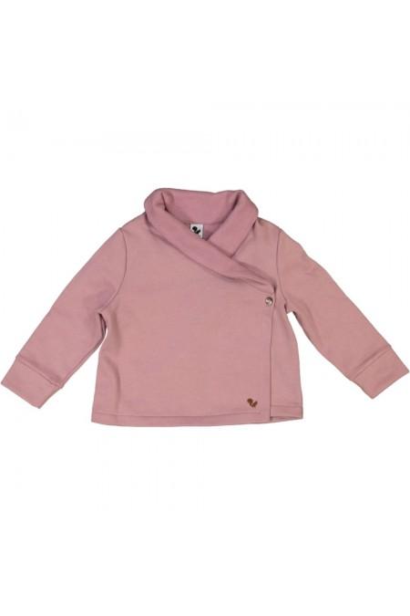 veste Cocoon rose colchique en coton bio risu risu