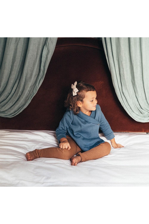 robe de chambre cocoon enfant en coton bio bleu risu risu