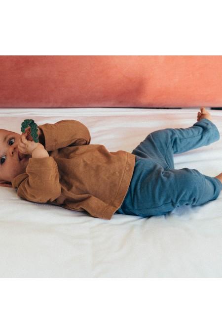leggings bébé coton bio bleu risu risu pistil